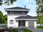 Двухэтажный дом с террасой и гаражом